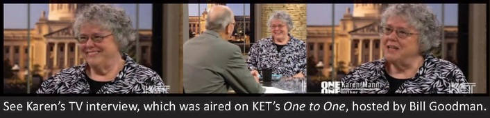 See Karen's TV Interview on One to One.